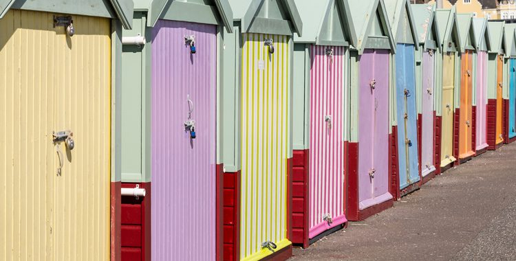 Photo of the beach huts at Hove desirable property